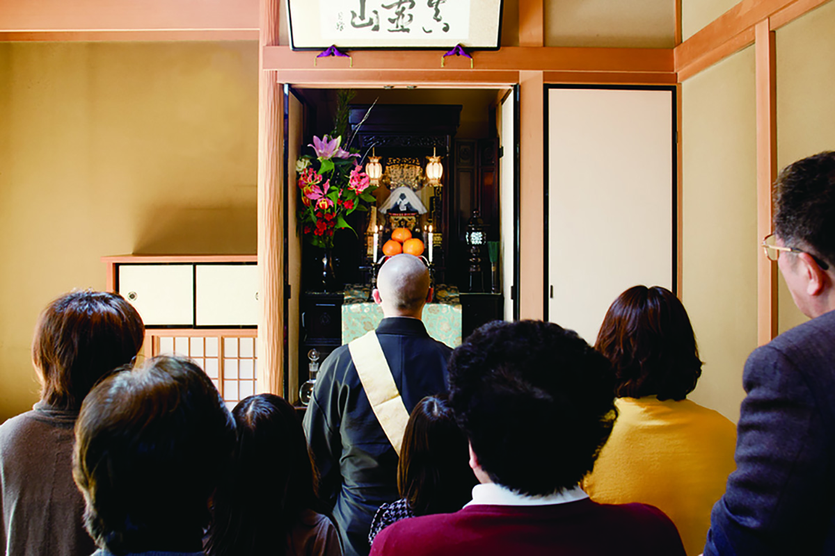 Ojogyo—practice of transferring merits to others so they can receive Goriyaku smoothly